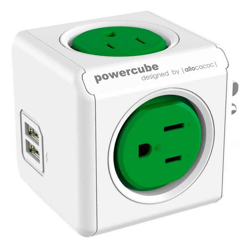 Allocacoc - PowerCube Original USB Verde