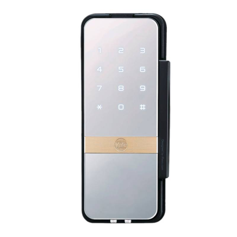 Yale - Cerradura Digital para Puertas de Vidrio de Clave y Tarjeta