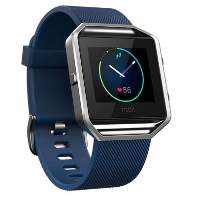 fitbit blaze smart watch azul plata