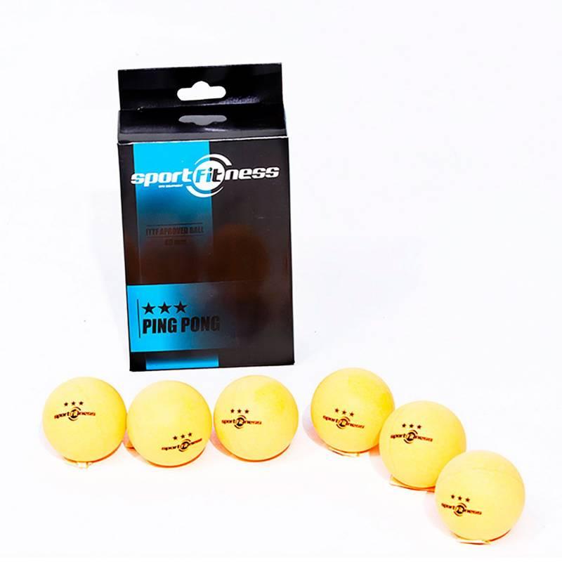 Sportfitness - Pelota de Tenis de Mesa 3 Estrellas