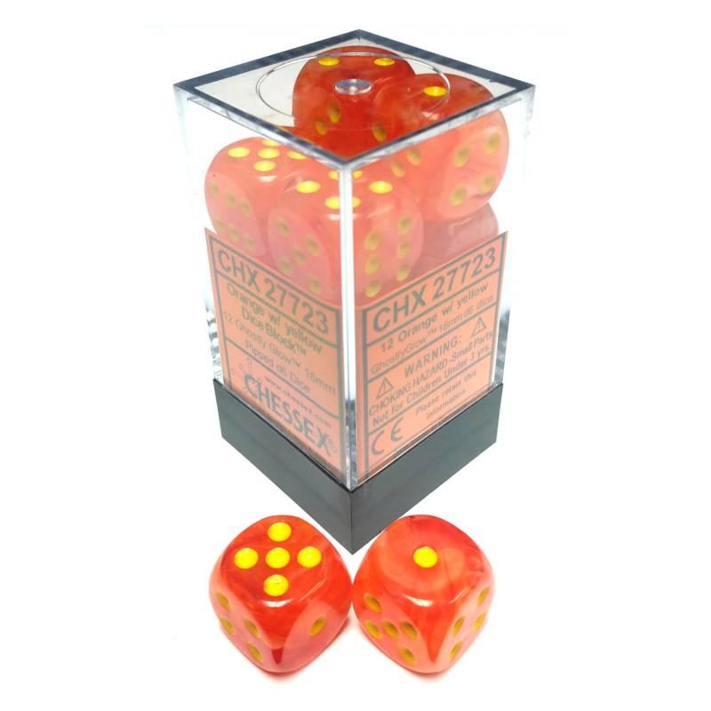 Chessex - Dados Dice Block Orange/Yellow