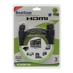 BestCom  - Cable HDMI 30AWG 180 1.83 mt