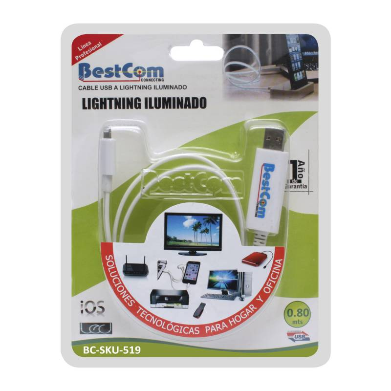 BestCom  - Cable USB a Lightning Iluminado