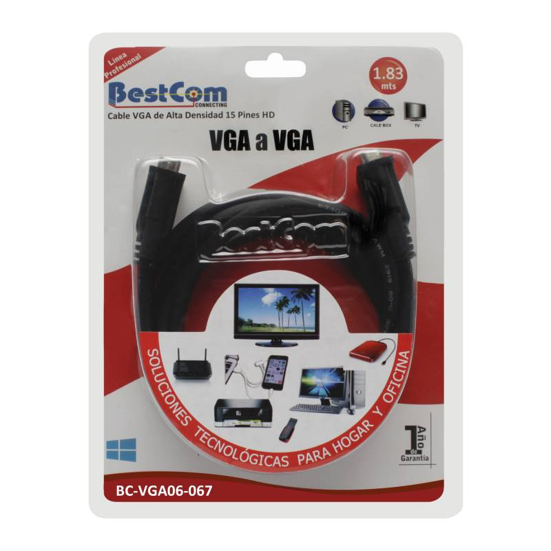 BestCom  - Cable VGA Macho a Macho 1.83 mt