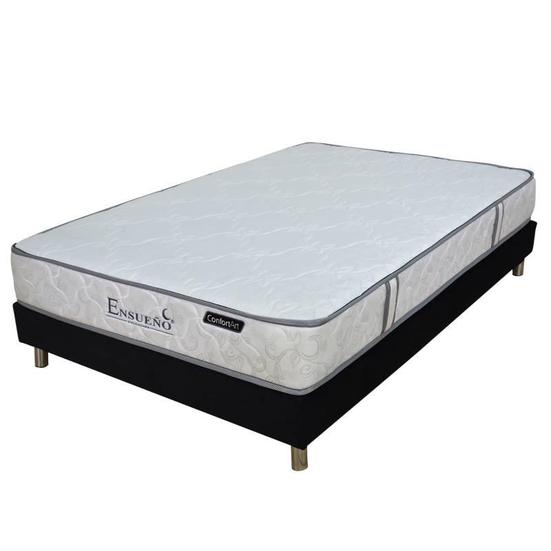 Ensueño Hogar - Colchón con base Semidoble Perfect Rest Suave