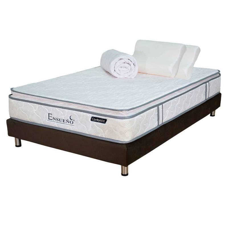 Ensueño Hogar - Colchón con base Doble Good Sleep Suave