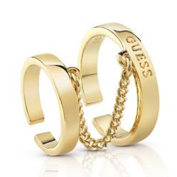 EC-ANILLO GUESS HOOPS DORADO
