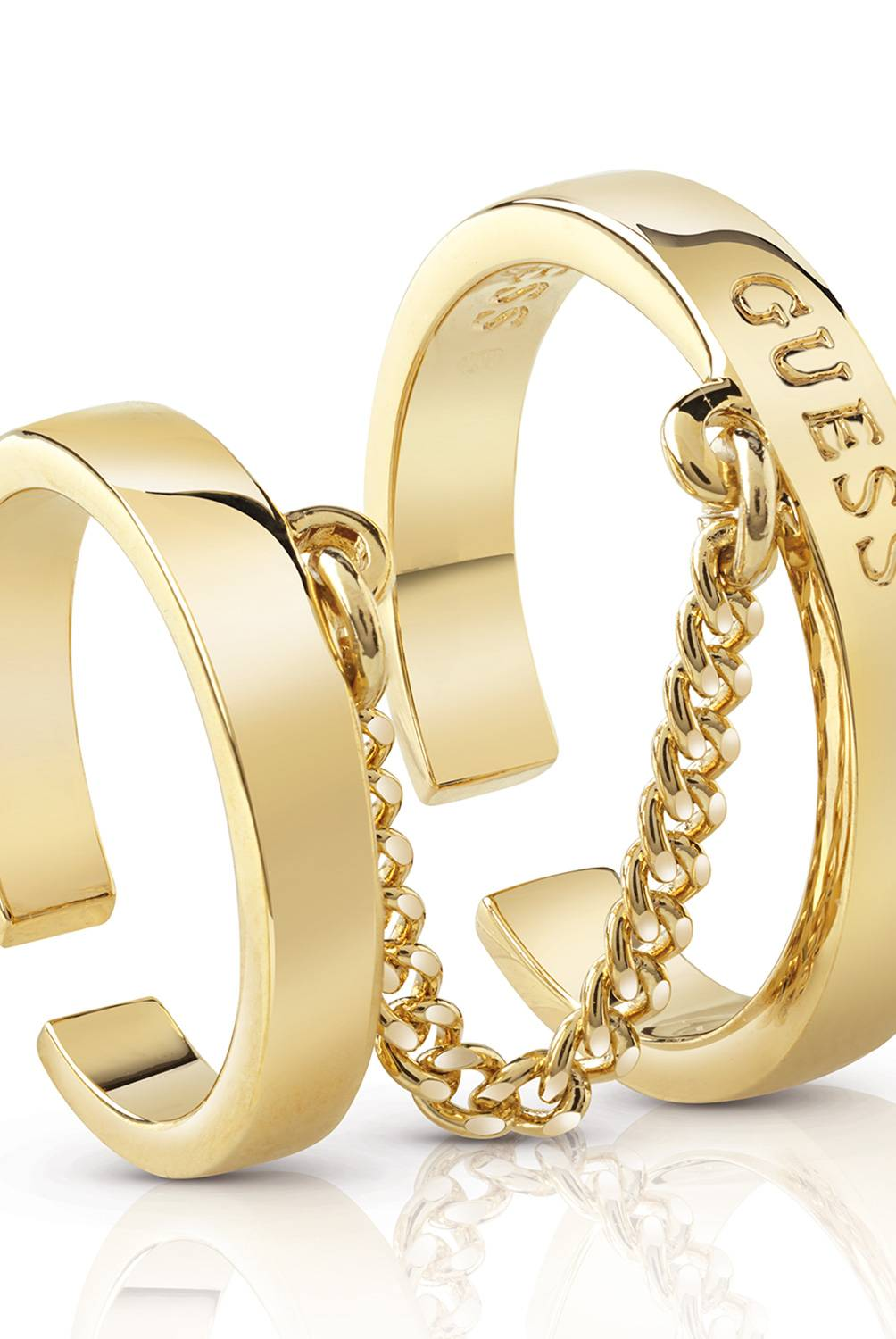 Guess - EC-ANILLO GUESS HOOPS DORADO