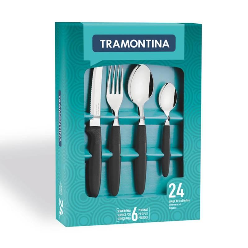 Tramontina - Set de Cubiertos 24 Piezas Negro