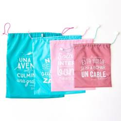Mr Wonderful - Bolsas de viaje Wonder - Pack de 4 ud.