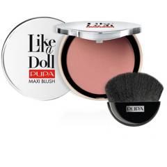 PUPA - Rubor Polvo Compacto Like A Doll Maxi Blush Radiant Colour Compact Blush Todo tipo de piel Pupa 9.5 g