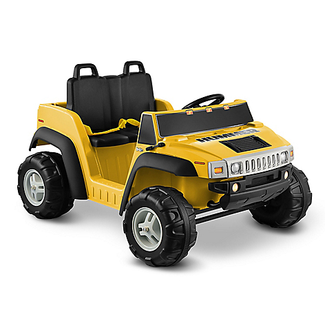 Carro Montable  Hummer H2 Amarillo