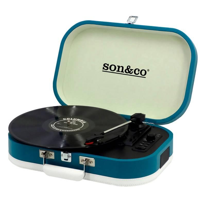 Son&Co - Tornamesa Portable Tt-101 Azul
