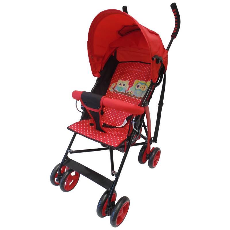 Happy Baby - Paseador con Posiciones, Capota Cams Rojo