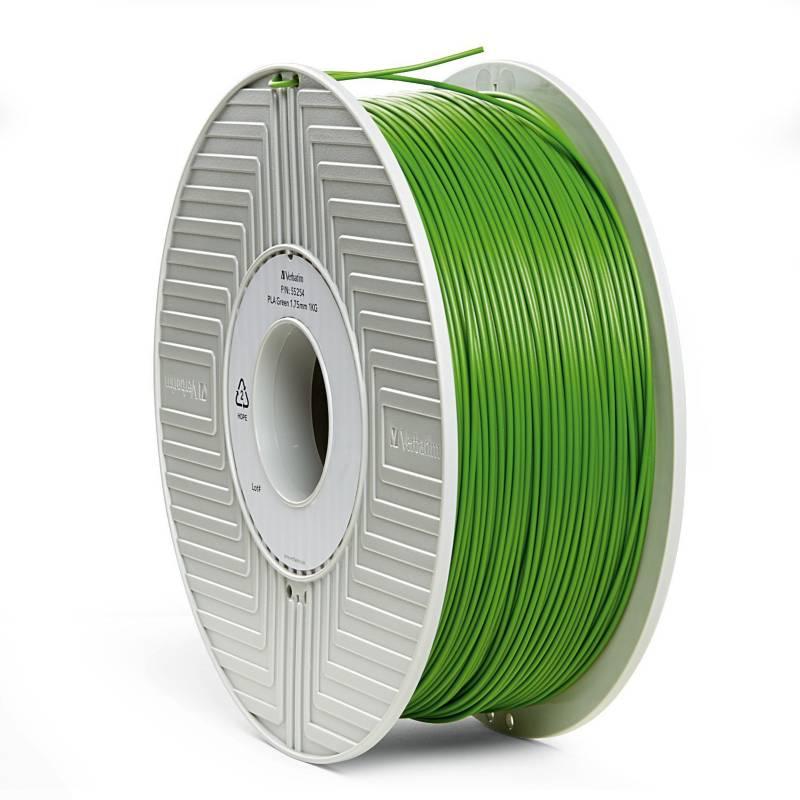 Verbatim - Carrete de filamento PLA 3D de 1,75 mm 1 kg ¿ Verde