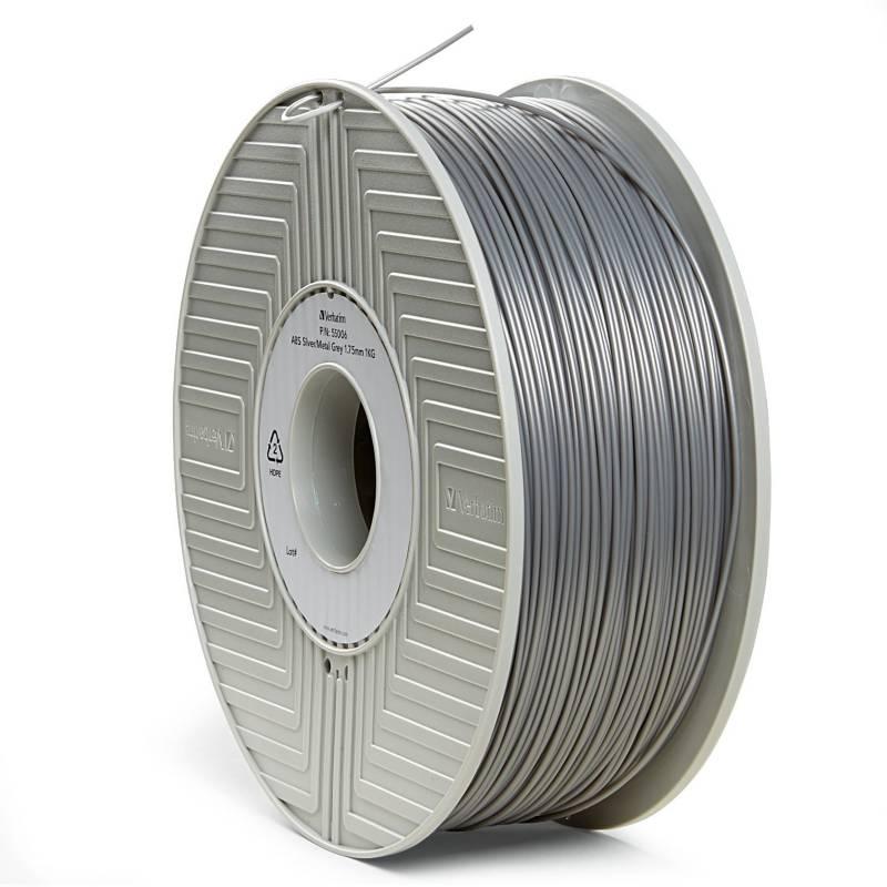 Verbatim - Carrete de filamento ABS 3D de 1,75 mm 1 kg ¿ Plateado