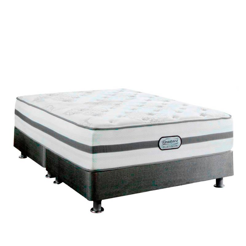 Beautyrest - Colchón con base King Brittany Firm Firme