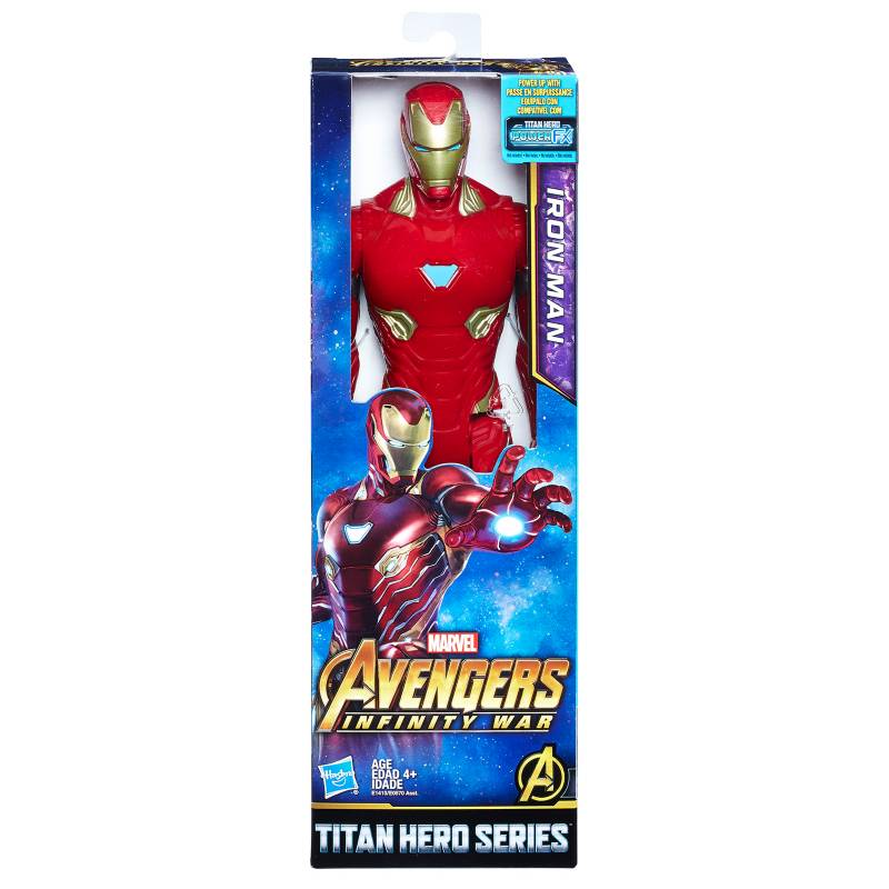Marvel - Marvel Infinity War Titan Hero Series - Iron Man Con Puerto Para Titan Hero Power Fx