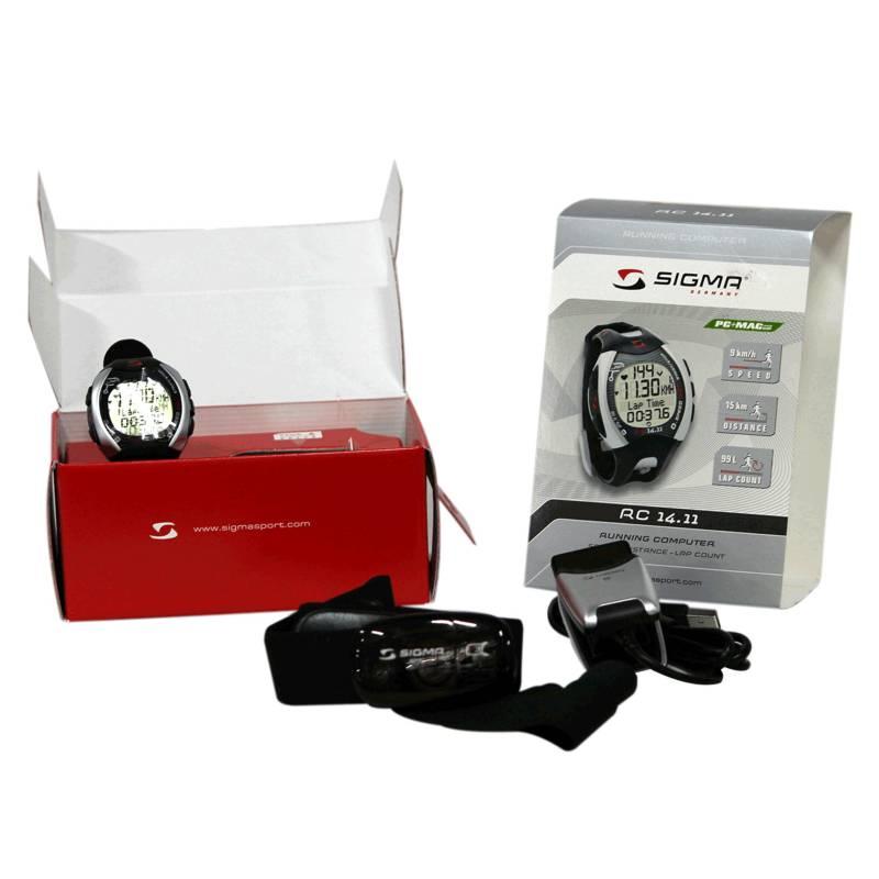 Sigma - Monitor de ritmo cardio rc 14.11 gris trote