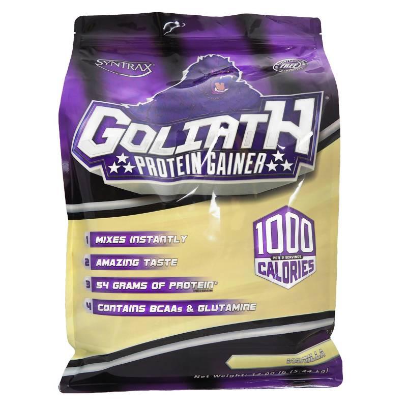 Syntrax Sports Nutrition - Gainer Goliath Vainilla Shake 12 LBS