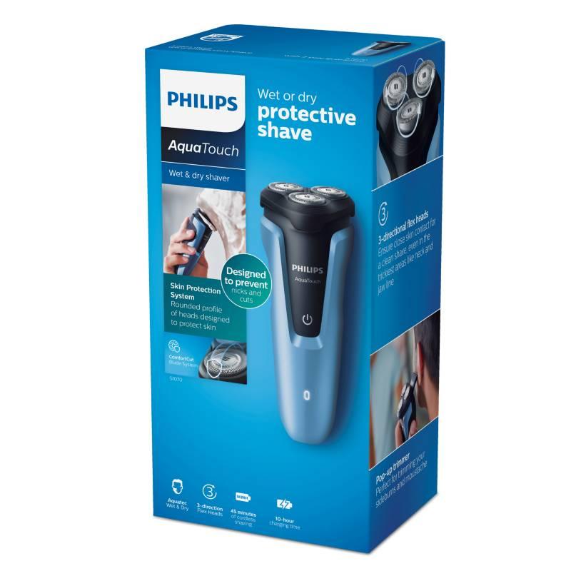 Philips - Afeitadora Aquatouch con Patillero