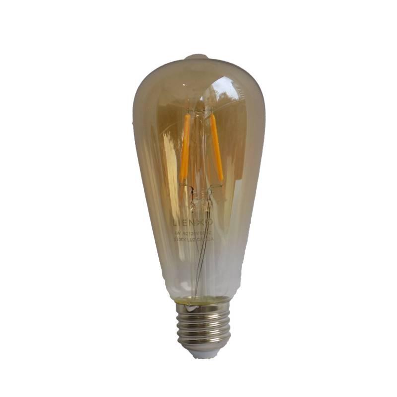 Lienxo - Bombillo Retro St64 Ámbar Filamento Led  4W E27 Cálido