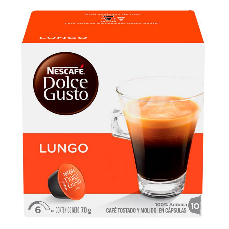 Dolce Gusto - Nescafe Dolce Gusto Lungo 10 Cápsulas