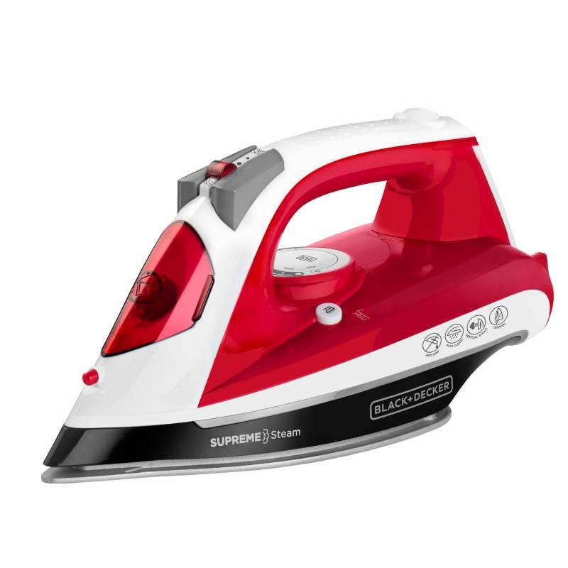 Black&Decker - Plancha a Vapor Black & Decker Steam Roja