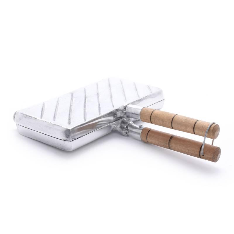 Aluminio Fundido - Sanduchera Doble Manual Rústica