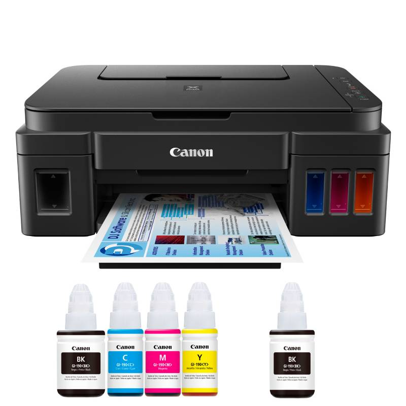 Canon - Multifuncional Pixma G2100 + Botella Negra