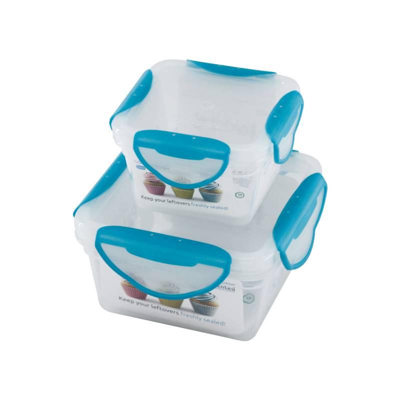 Clip Fresh - Set x 2 Contenedores Azul