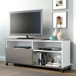 Multimoveis - Rack TV Blanco / Gris