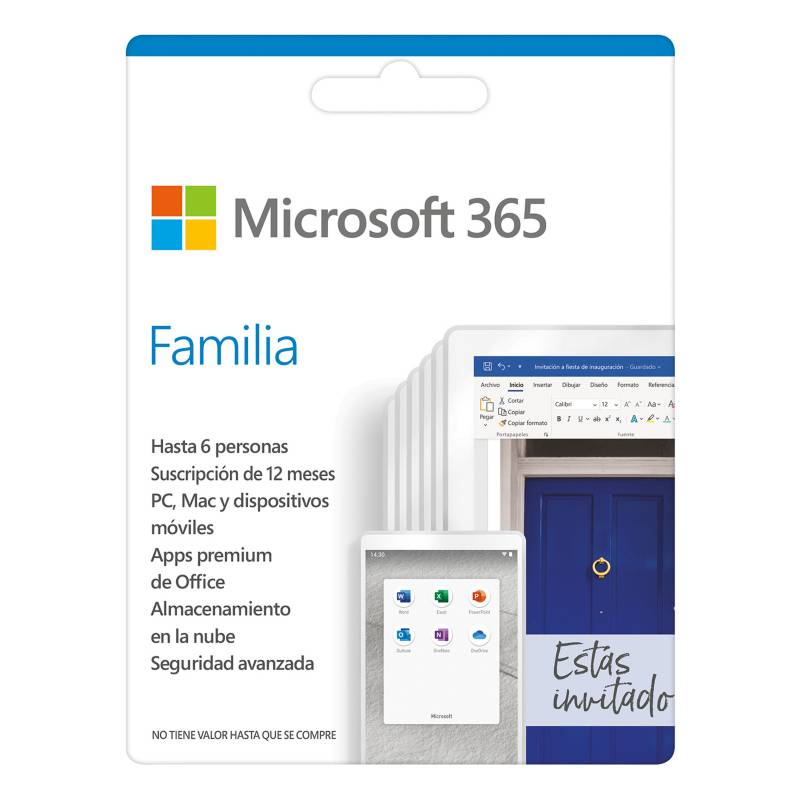 Microsoft - Microsoft 365 Familia Suscripción 1 año para PC o Mac