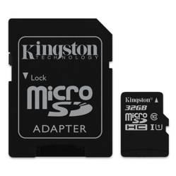 Kingston - Memoria Micro SD 32 GB Clase 10 80 MBS