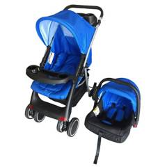 Stylo - Coche Travel System Blue