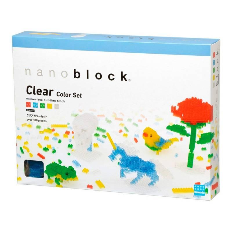 Nanoblock - Set de 800 Fichas Transparente