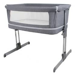 Cuna Side By Side Doble Gris