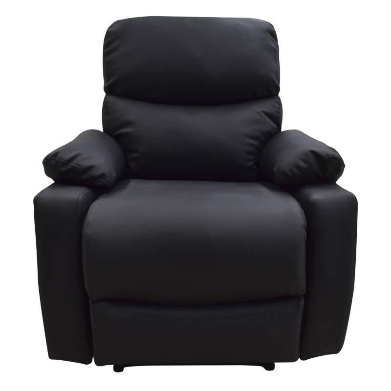 Relax Home - Silla Reclinable 1 Puesto Cuero Sintético Velara