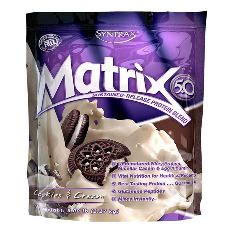 Syntrax Sports Nutrition - Proteína Matrix 5.0 Cookies and Cream
