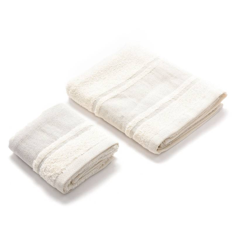 Roberta Allen - Set x2 Toallas de Mano 450 g Cufflino Na 50 x 80 cm