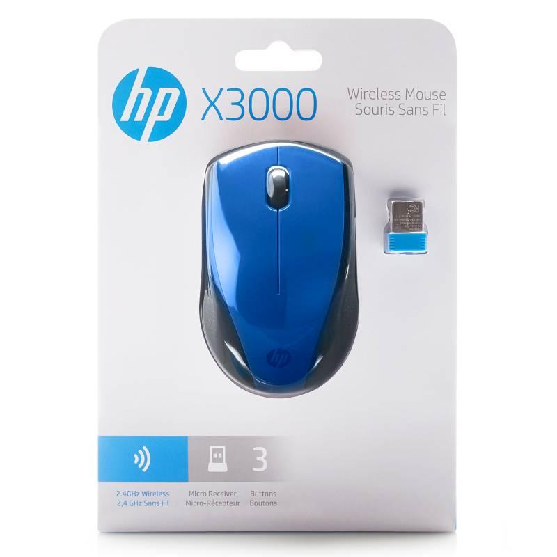 HP - Mouse inalámbrico X3000 azul