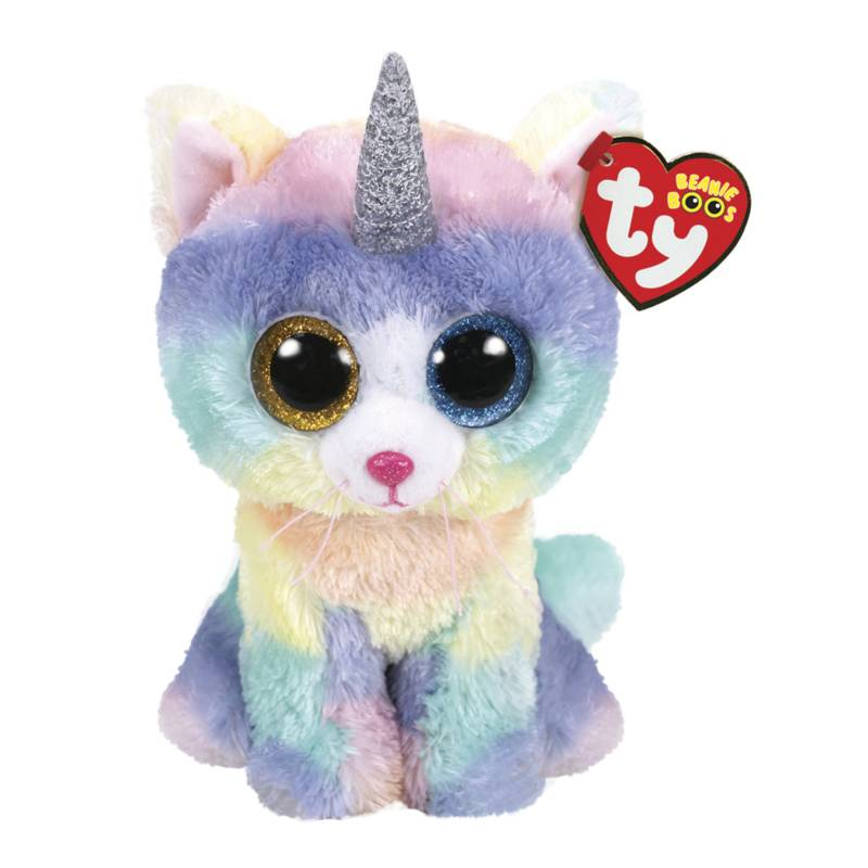 TY - Beanie Boos Gato Multicolor Unicornio