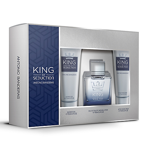 Perfume King of Seduction Men EDT 100 ml + Shower Gel 75 ml + After Shave Balm 75 ml