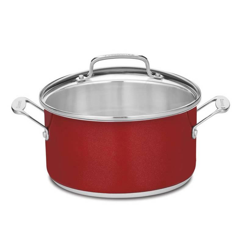 Cuisinart - Olla Con Tapa 5.7 lt Roja