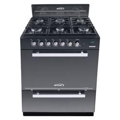 Abba - Cocina a gas 6 quemadores RG 803-4N VE