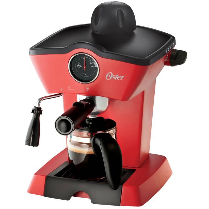 Oster - Cafetera de vapor para espresso y capuccino