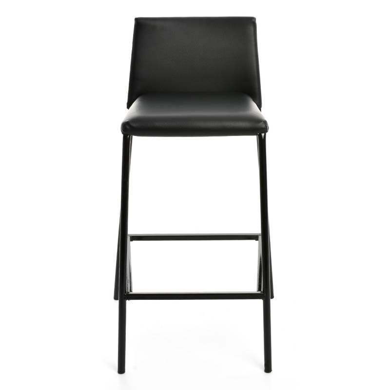 Mica - Silla de Bar Boston Negro Pu