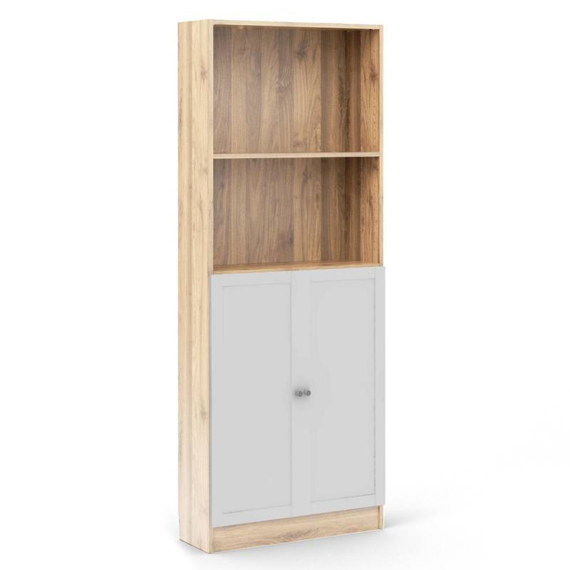 TVILUM - Biblioteca Basic Roble/Blanco