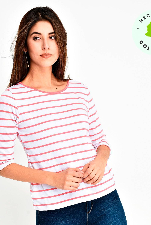 Newboat - Camiseta Mujer Manga 3/4 Newboat