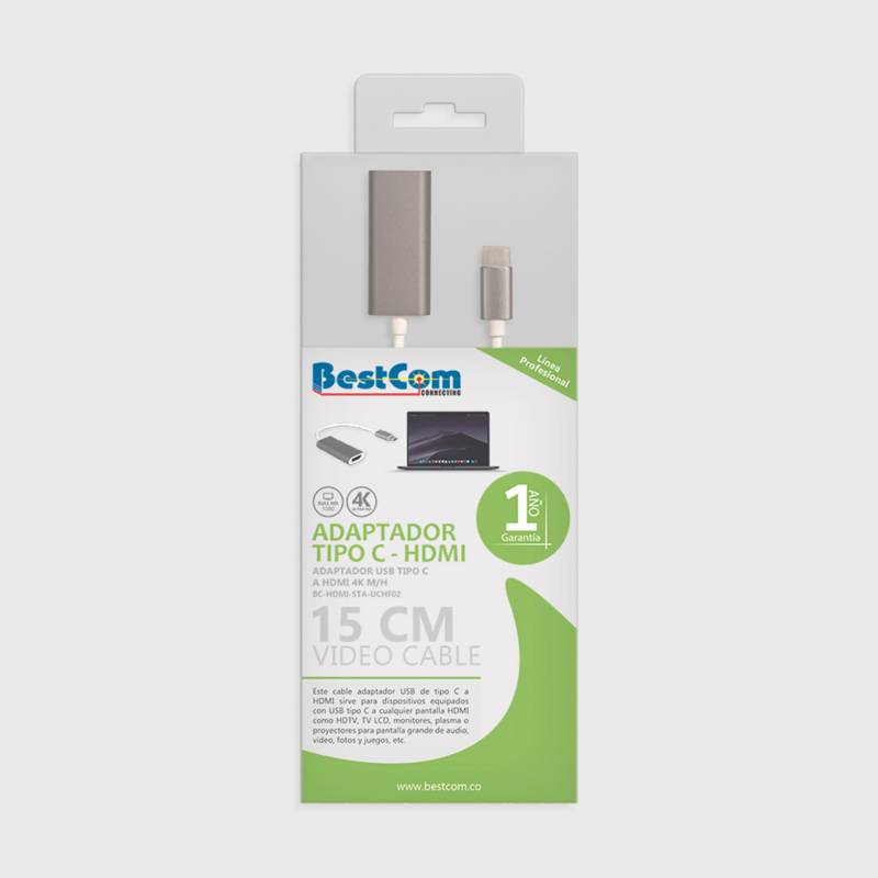 BestCom  - Cable Tipo C A Hdmi 4K
